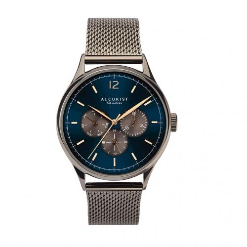 ACCURIST 時尚三眼紳士腕錶