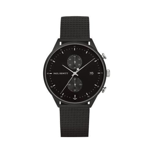 (特價品) PAUL HEWITT 曜黑風格計時腕錶_42 mm