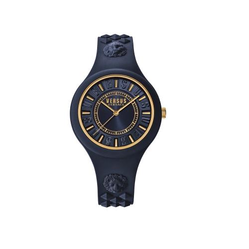 Versus Fire Island系列時尚腕錶-氣質深藍款