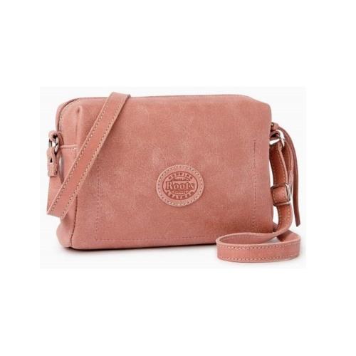 (特價品) ROOTS 方形側背包 -玫瑰色