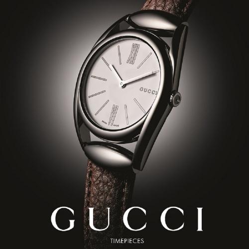 (福利品) Gucci Horsebit collection咖啡色錶帶腕錶_34mm