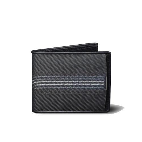 monCarbone |  BlackLabel 刺繡經典短夾