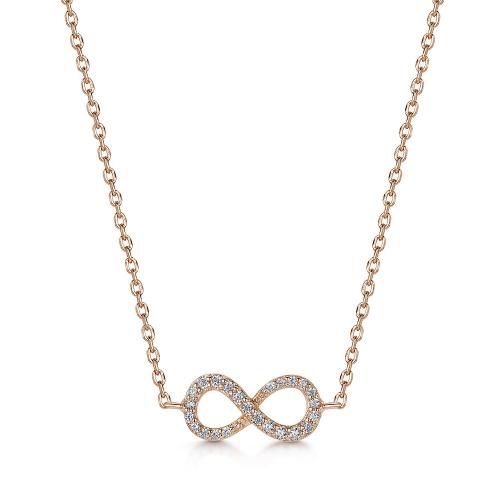 Infinity無限項鍊(玫瑰金)