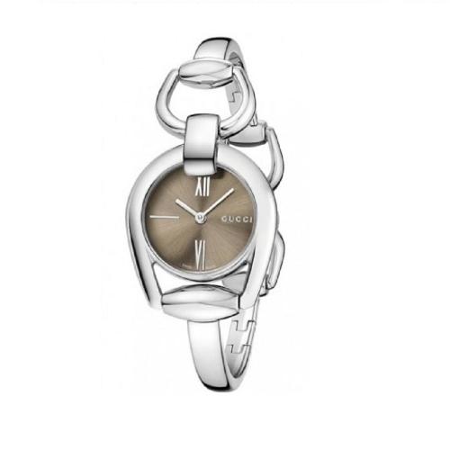 (福利品) GUCCI HORSEBIT咖啡色腕錶_28mm