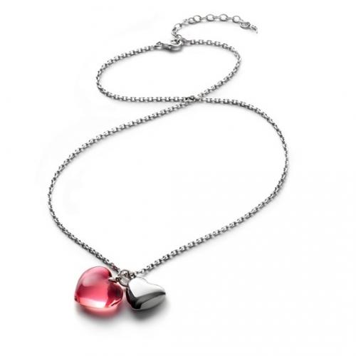 (特價品) Baccarat 粉色水晶項鍊